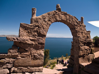 Amantani Island on Lake Titicaca, Peru South America