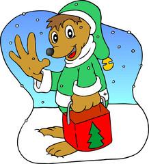 dogy santa
