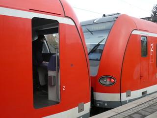 S-Bahnzüge gekoppelt