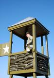 Military prison guard poster