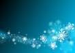 dearm flying snow flake in abstract blue background,xmas