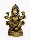Hindu God Ganesh isolated over white. poster