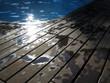 reflejos en la piscina