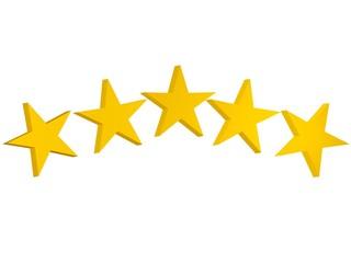 Cinco estrellas 3D