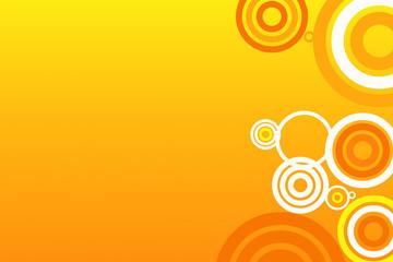 retro orange circles