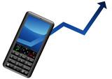 Augmentation des ventes de téléphones portables poster