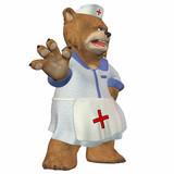 Mad Female Nurse Bear poster