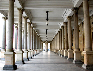 Colonnade in the famous spa resort Karlovy Vary aka Karlsbad