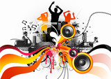 Fototapety Electric freeflow Dance