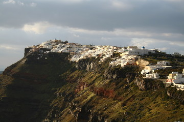 Firostefani, a small town next to Thera on the island Santorini