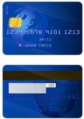 Carte bancaire recto/verso