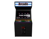 Black Arcade Game on White poster