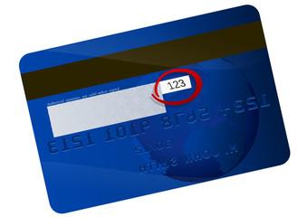 Code de sécurité de carte bancaire
