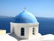 Santorini White House Blue Dome
