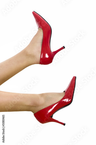 Stylish red shoes