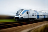 Fast train with motion blur - 5081096