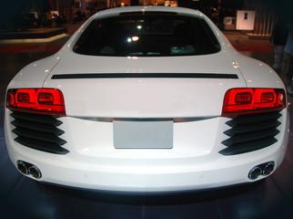 Rear view of luxury sports car