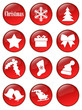 Special Christmas holiday glassy buttons collection