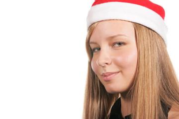 Santa girl close-up