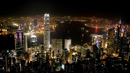 Hong Kong - Skyline at night