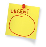 urgent note poster