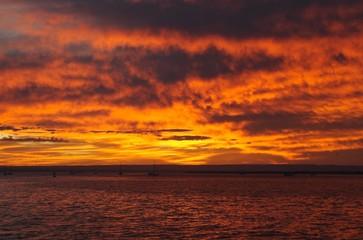 La Paz, Baja Sunset with boats