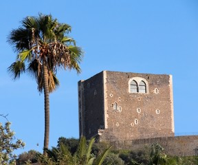 Paternò the norman castle and the palm