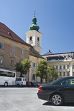 Roman-Catholic Church tower-Sibiu poster