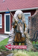 statue or model of an american native indian
