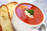 Tomato Soup with Toasted Turkish Bread poster