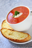 Tomato Soup with Turkish Bread poster