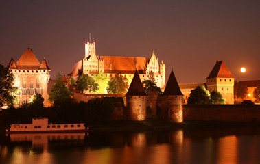 Old Teutonic castle in Malbork, Poland