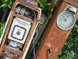 Vintage petrol / gasoline pumps