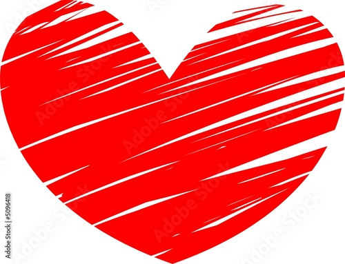Painted red heart symbol