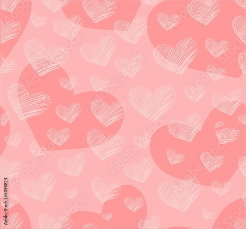 Seamless pink hearts background
