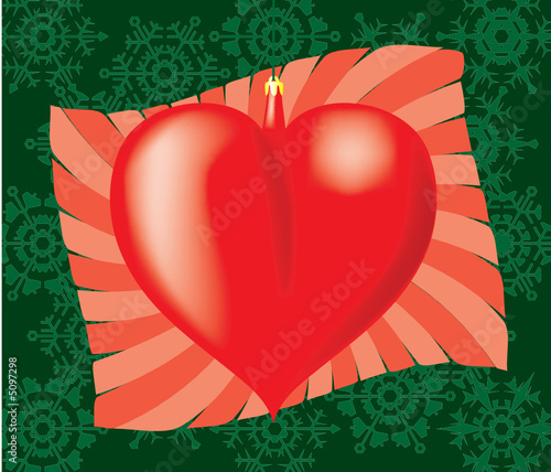 Heart in packing. A vector illustration.
