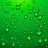 transparent water drops poster