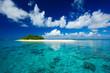 Leinwanddruck Bild - Tropical island vacation paradise