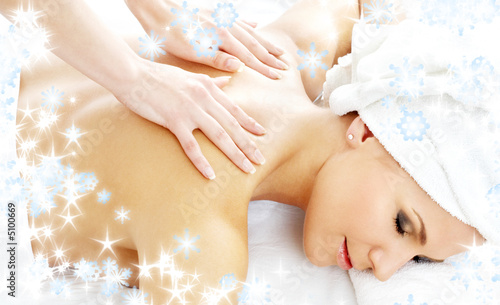 professional massage with snowflakes #2
