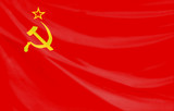 flag of the old soviet union poster