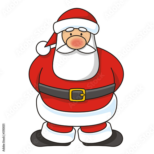 Cartoon illustration of Santa Claus standing
