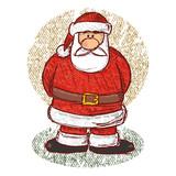 Santa sketch with pastels poster
