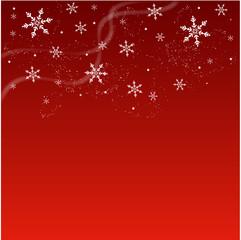Fond rouge hivernal - abstrait