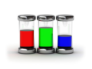 Containers with RGB ink
