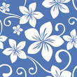 Seamless Blue Hawaii Pattern