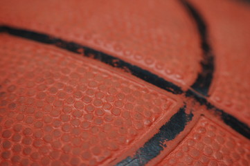 Skin of a worn out Basketball