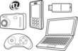 vector file of technology products