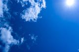 Fototapety Himmel mit Wolken und Sonne