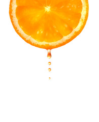 Orange with a drop.