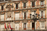 Building facade at the Plaza Mayor in Madrid, Spain